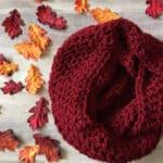 crochet chunky infinity scarf pattern