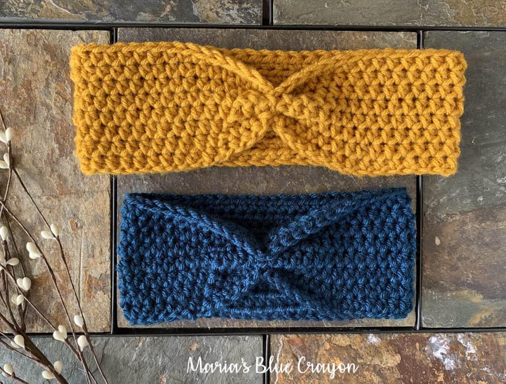 beginner crochet ear warmer