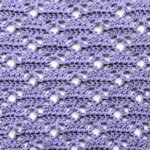 crochet stitch lattice loop