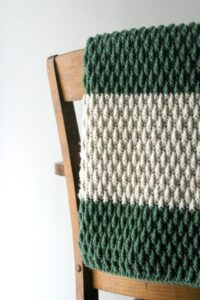 alpine stitch crochet blanket