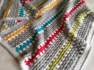 crochet granny stitch in rows
