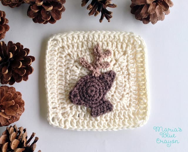 crochet deer applique
