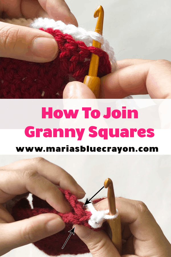 How To Join Granny Squares Single Crochet Method Maria S Blue Crayon