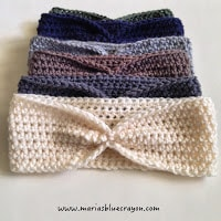 Quick and easy ear warmer free crochet pattern