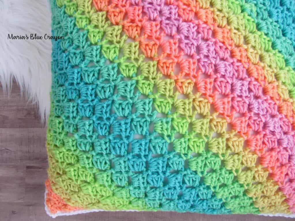 Crochet LOVE Pillow Cover - Maria's Blue Crayon