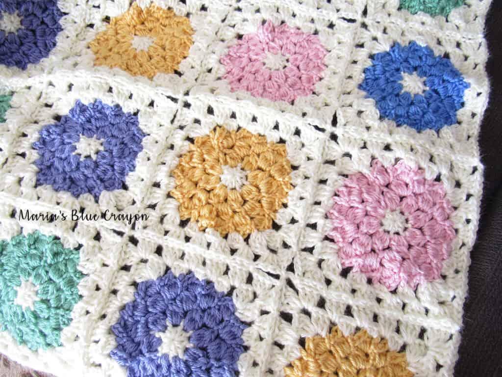 Spring Flower Granny Square Crochet Pattern Marias Blue Crayon