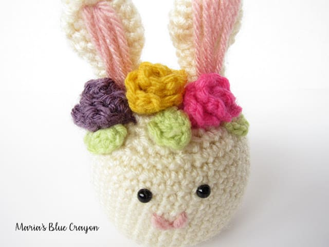 crochet flower crown animal pattern