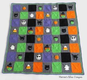 halloween themed crochet afghan