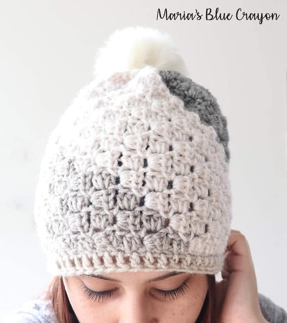 Free Crochet Pattern C2C Beanie