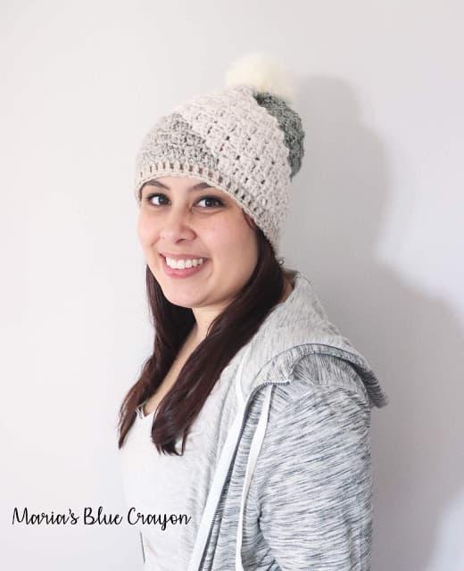 Crochet C2C beanie pattern