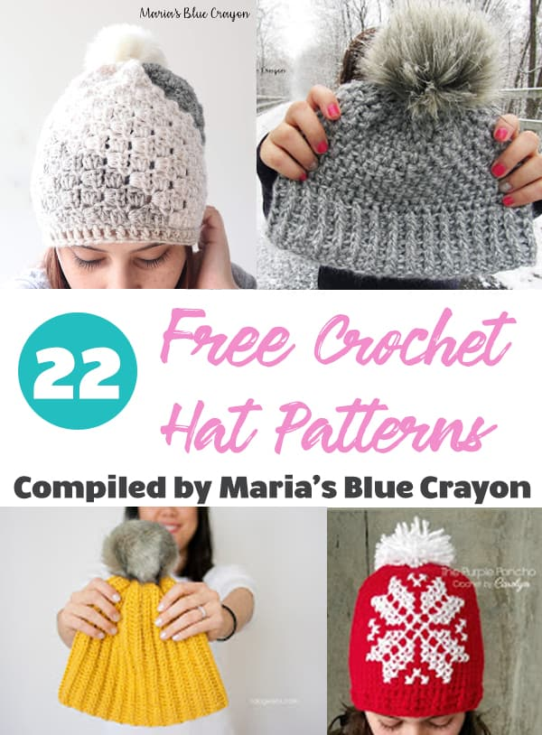 Top 22 Free Crochet Hat Patterns Marias Blue Crayon