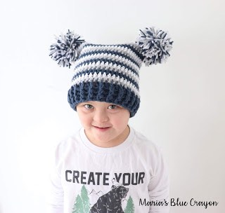 5422ad53150 Double Pom Pom Hat for Kids These pom pom crochet hats are so much fun to  make and wear! The color possibilities are endless. This pattern comes in  ALL ...