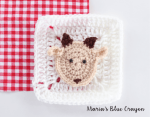 crochet goat applique