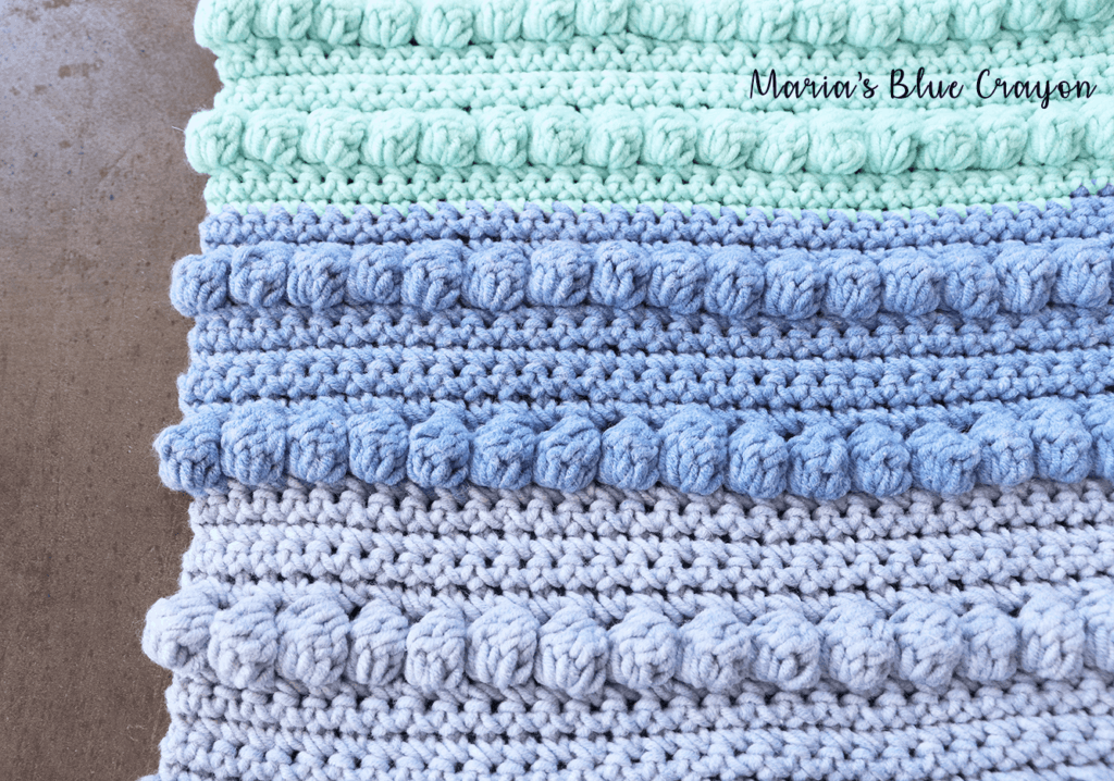 bobble crochet washcloth