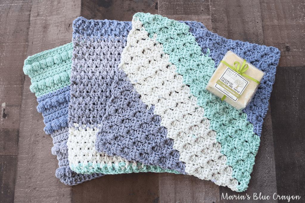 Free Crochet Washcloth Patterns Marias Blue Crayon
