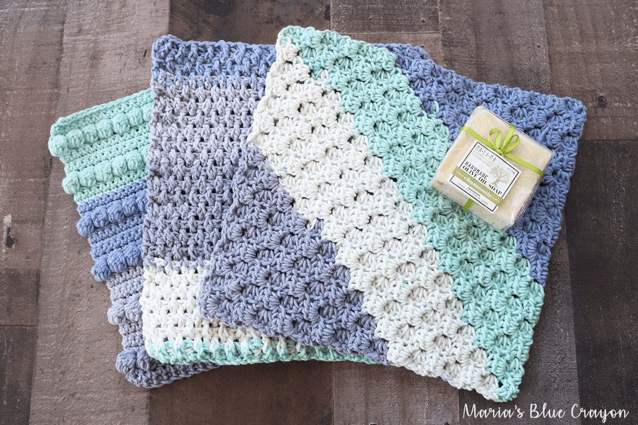 Free Crochet Washcloth Patterns Maria S Blue Crayon
