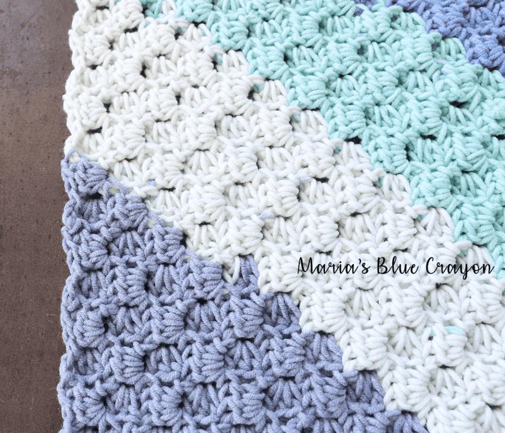 c2c crochet washcloth