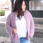 Simple crochet cardigan
