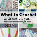 crochet patterns using cotton yarn