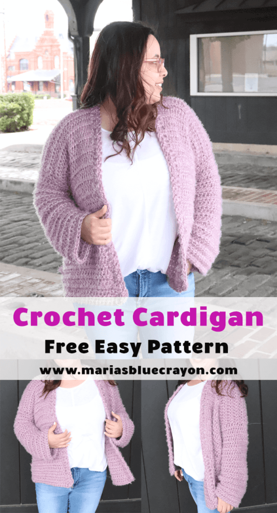 Crochet cardigan pinterest