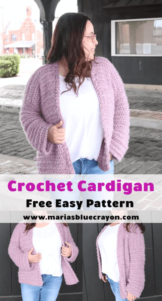 Crochet cardigan pinterest