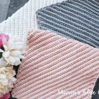 crochet dishcloth with diagonal textures