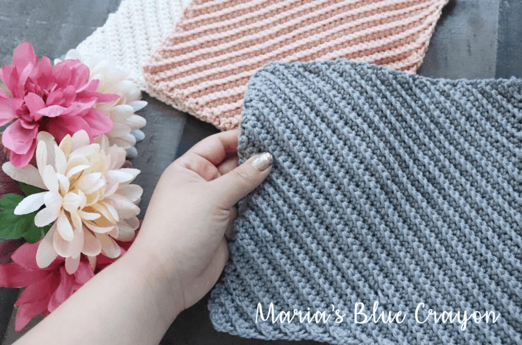 textured crochet dishcloth pattern
