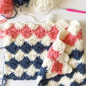 crochet blanket harlequin stitch