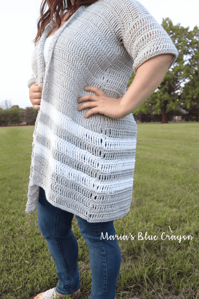 Light spring crochet cardigan pattern