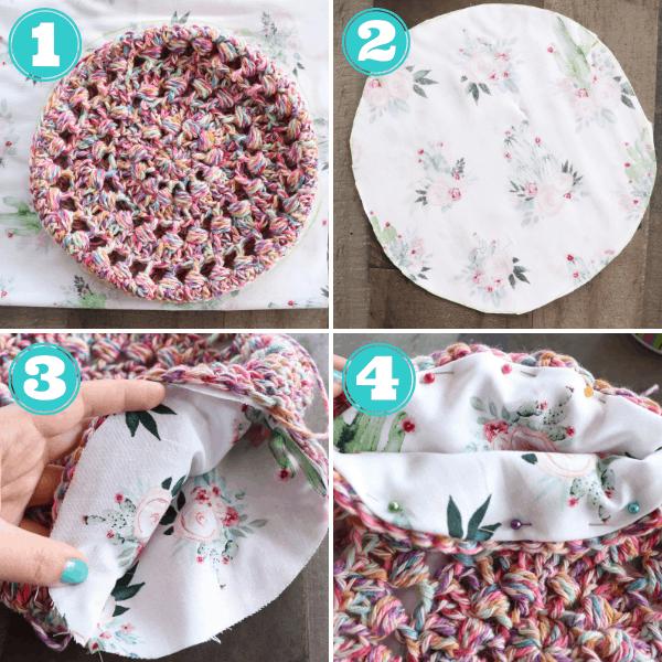 how to line a crochet bag tutorial