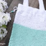 crochet tote bag cotton yarn