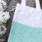 crochet tote bag cotton yarn