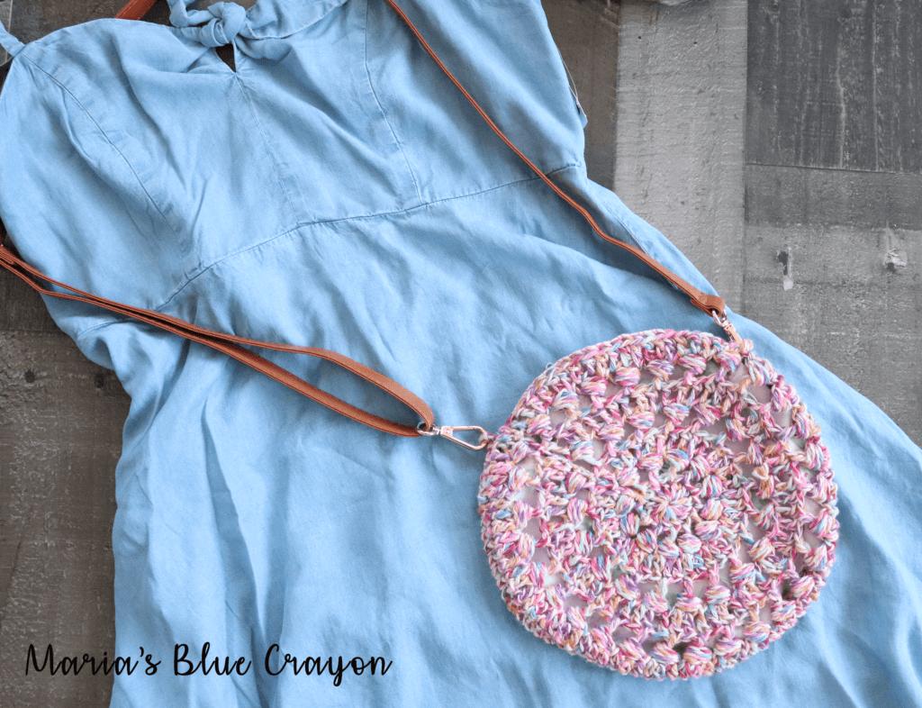 cross body crochet purse