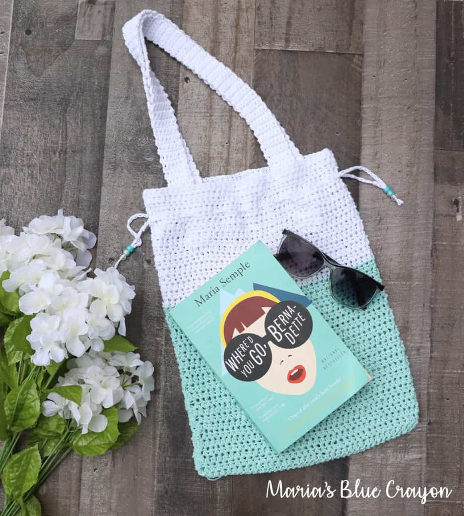 small crochet tote bag