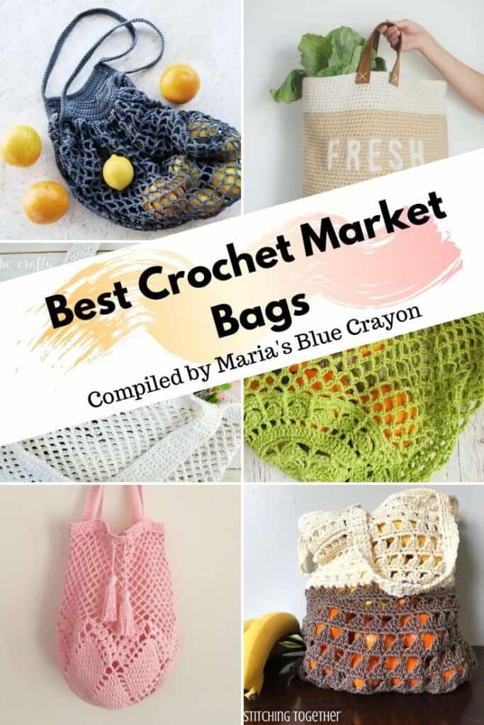 Cotton Bag Grocery Bag Reusable Bag Crochet Market Bag Market Bag Shopping Bag