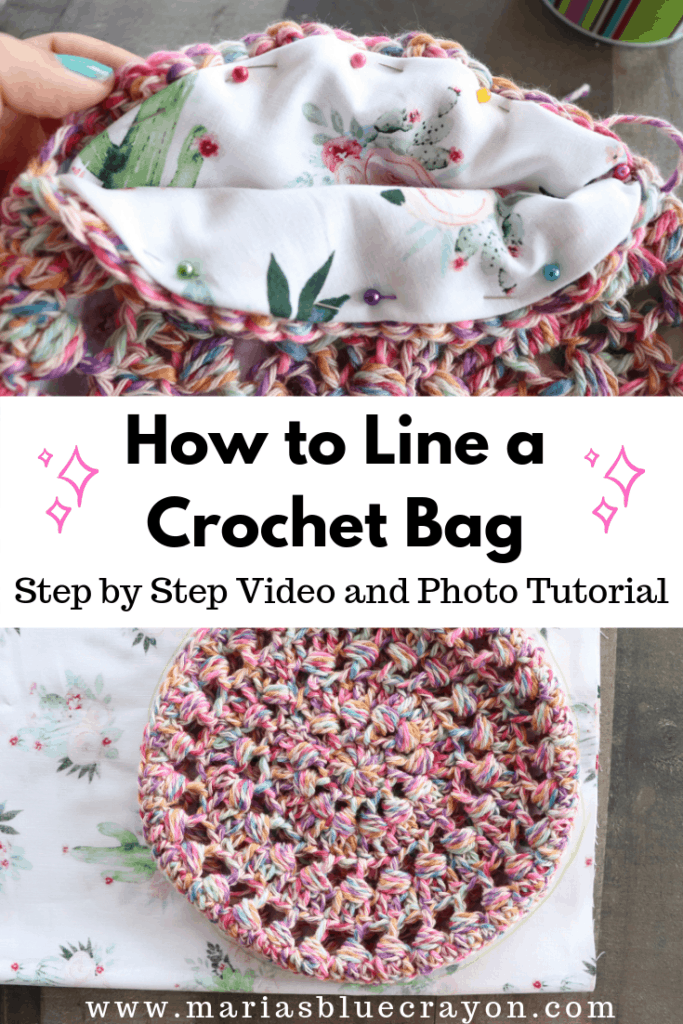 how to line a crochet bag tutorial