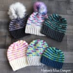 Pop of Color Crochet Beanies