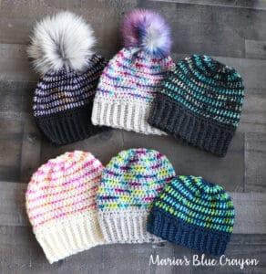 Pop of Color Crochet Beanies