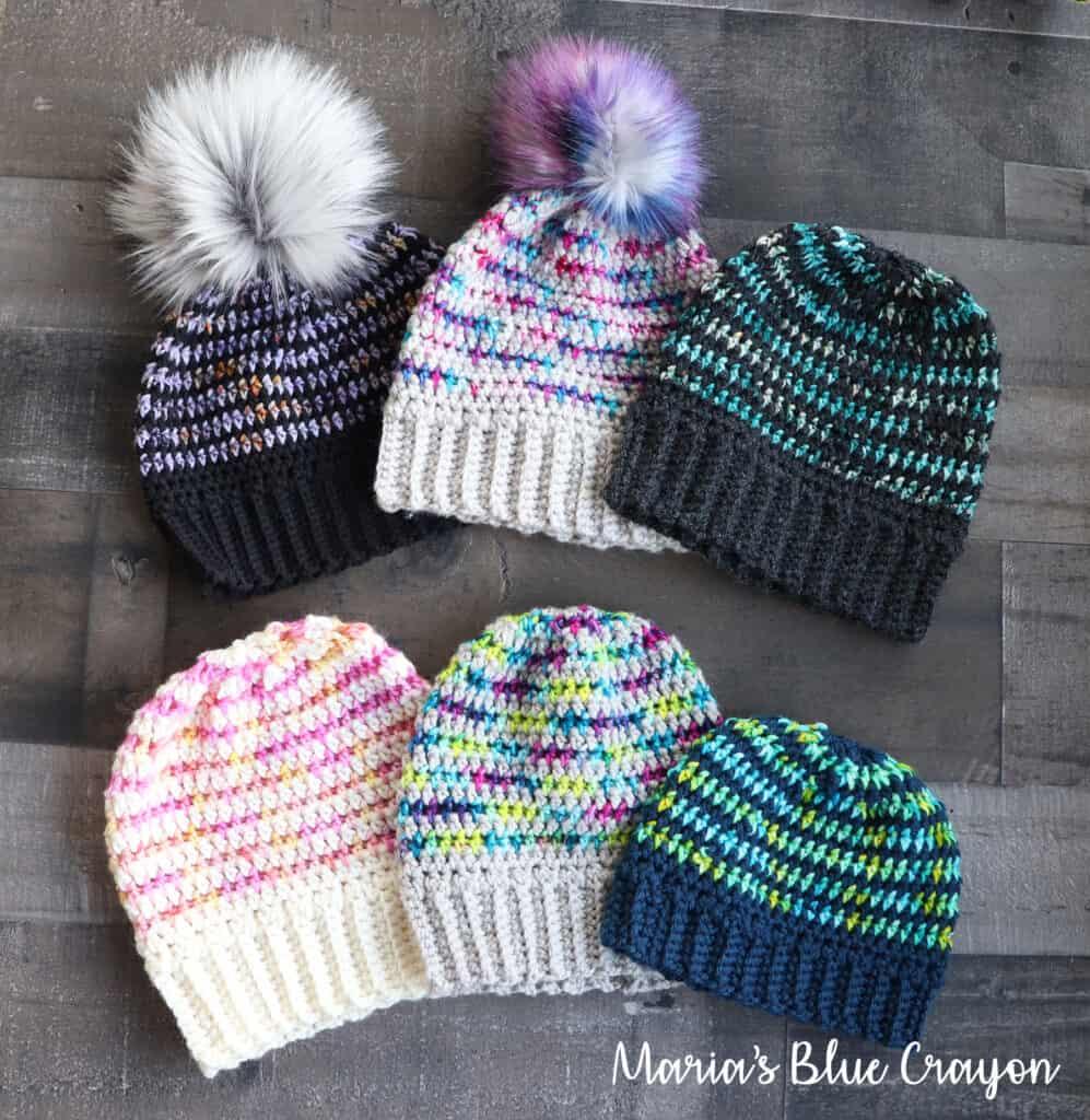 Multi-colored Crocheted Beanie