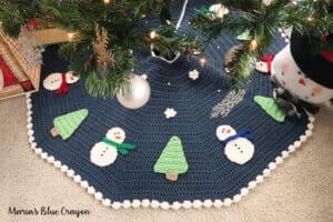 crochet christmas tree skirt