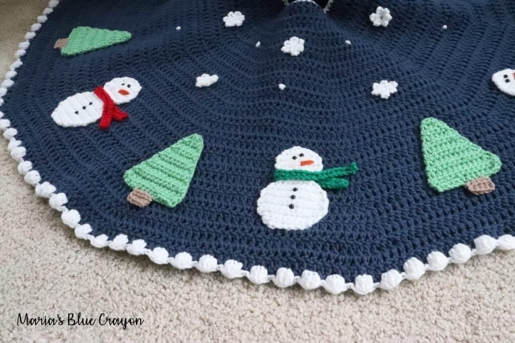 snowman crochet tree skirt
