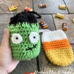 crochet halloween treat bags