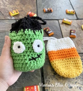 crochet halloween treat bags