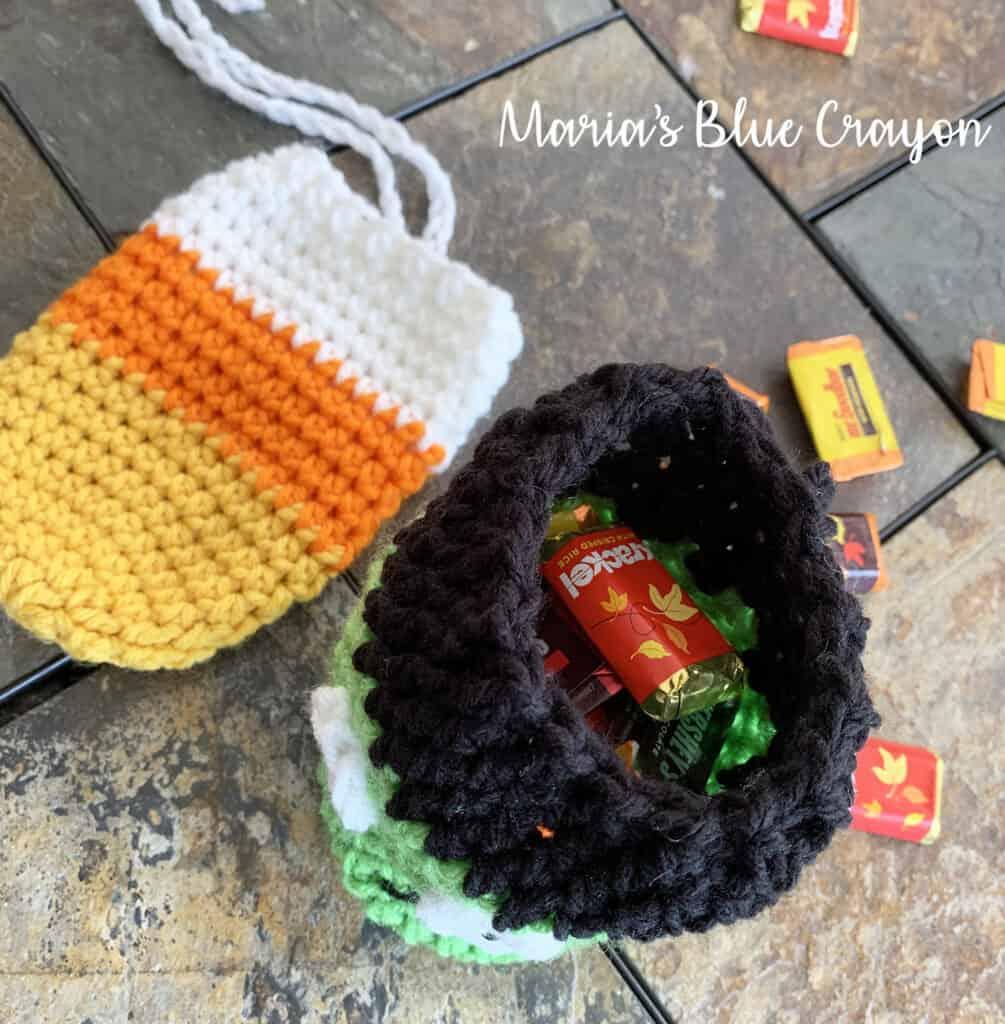 halloween crochet candy bag