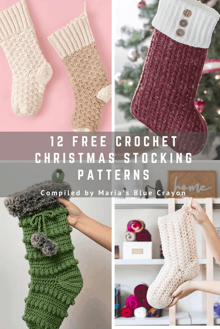Free stocking pics Best Free Crochet Christmas Stocking Patterns Maria S Blue Crayon