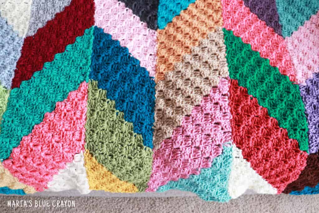 crochet geometric blanket