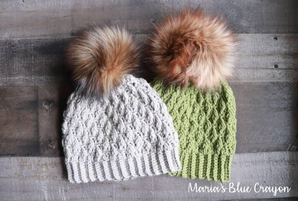 crochet hat pattern with pom