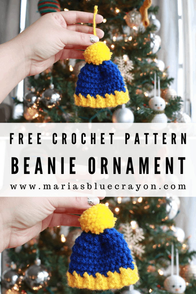 crochet beanie ornament pattern