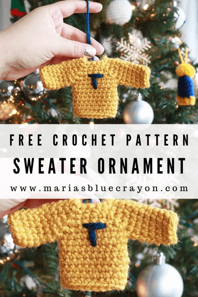 crochet sweater ornament pattern