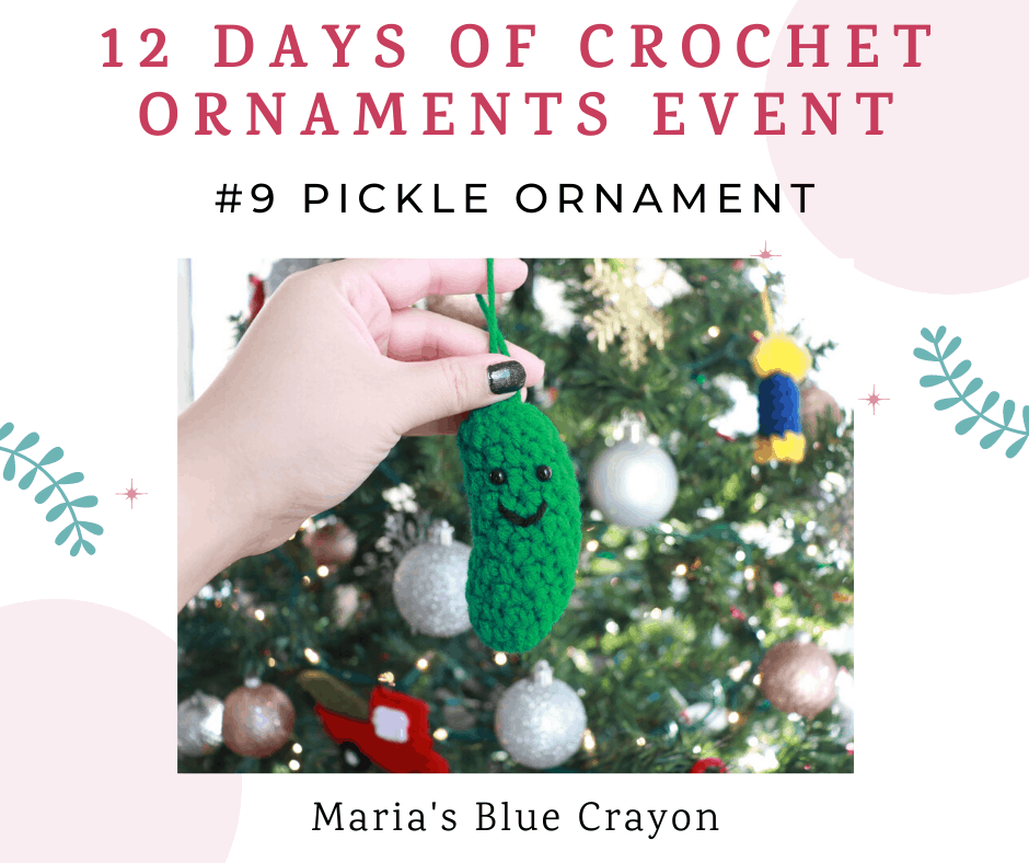 crochet pickle ornament pattern